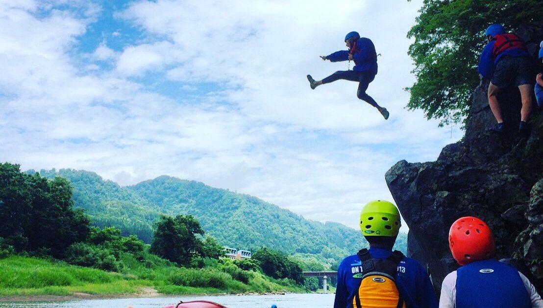 White water rafting tour in Sakae village【The 2020 tour is over】