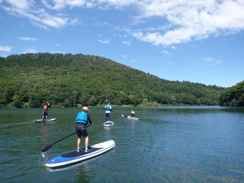 Biwa Pond SUP half-day tour in Shiga Kogen