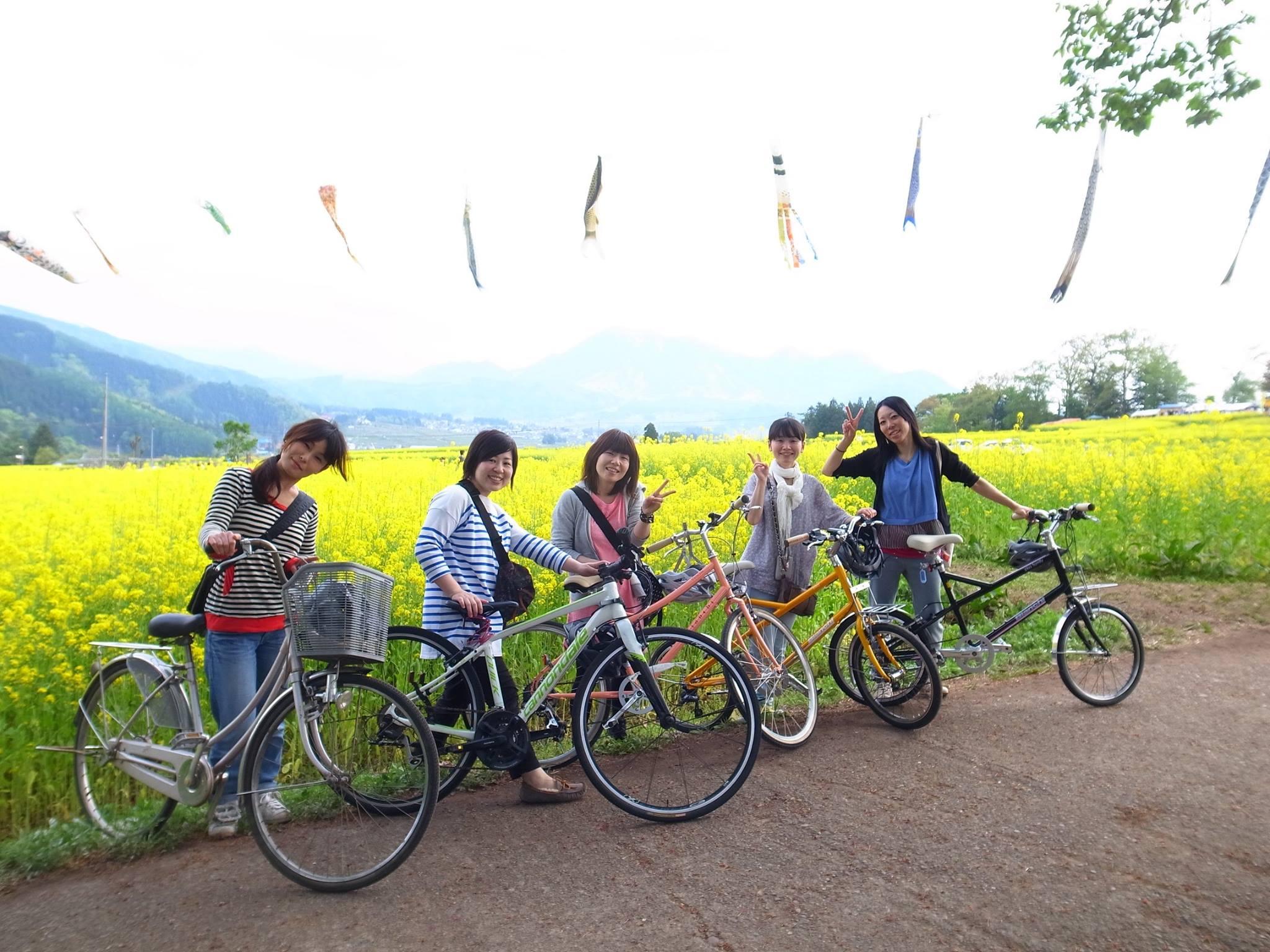 菜の花自転車